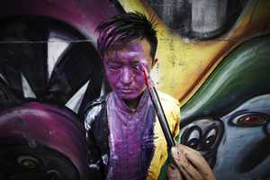 Liu Bolin x Kenny Scharf Create NYC Street Art that Confuses Viewers