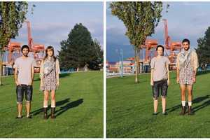 Hana Pesut Photographs Couples Before and After Switching Clothes