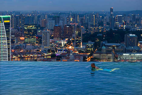 Cityscape Infinity Pools - The Marina Bay Sands Pool Overlooks the Entire Singapore Skyline