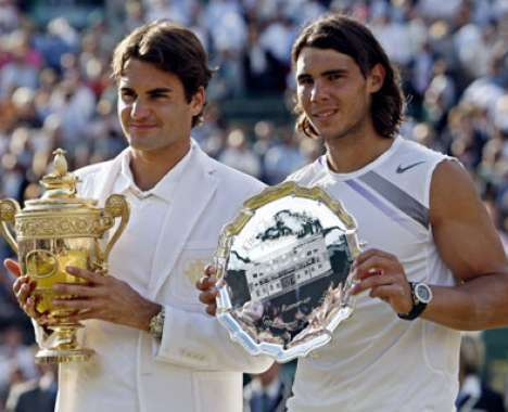 Nadal and Federer features