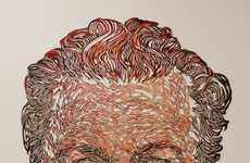 Intricate Cutout Paintings