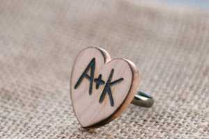 This Jewelry by Morgann Hill Designs Adds Wooden Warmth to Your Weddings