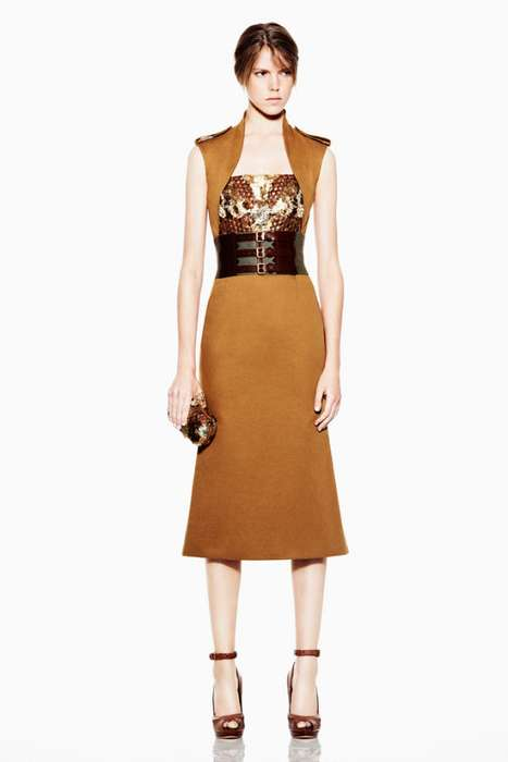 Sophisticated Military Fashions - The Alexander McQueen Resort 2012 Collection is Tough-Girl Chic