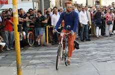 Outdoor Catwalks - The Trussardi Fashion Show Started on the Street