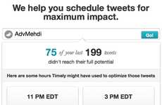 Twitter Time Trackers  - Timely Schedules Tweets According to When Your Followers are Most Active