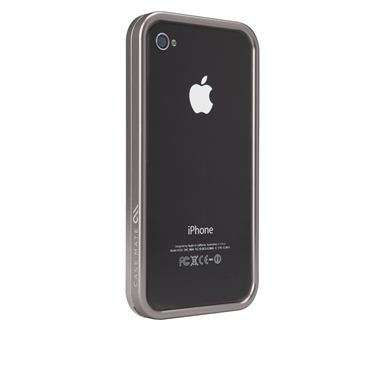 Premium Metallic Mobile Covers - Case-Mate Titanium iPhone 4 Case Slicks out Heavy-Duty Material