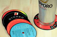 Vintage Vinyl Mug Mats - These Record Label Coasters Go Back to the Days of Easy Listening