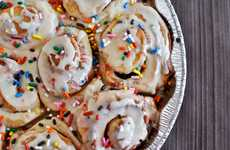 Decadent Hybrid Desserts - The Cake Batter Cinnamon Roll Recipe is Oozing With Indulgence