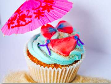 Beach Themed Cupcake