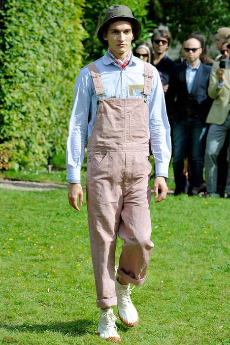 Farm-Inspired Couture - The Junya Watanabe 2012 Spring/Summer Line Presents Overall High Fashion