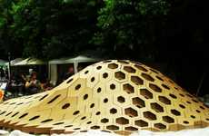 Bulbous Honeycomb Sculptures - HEXigloo is an Intricate Exploration of Parametric Design