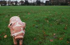 Life-Sized Pork Piglets - The Pig Project Shows How Pigs are Born into This World to be Eaten
