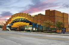 Tilted Cargo Crate Construction - ECORRE Complex Revolutionizes Recycled Building