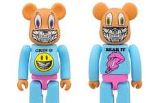 Devilish Smirking Bears - The Zac Pac x Ron English 'Grin and Bear It' Smiles Menacingly