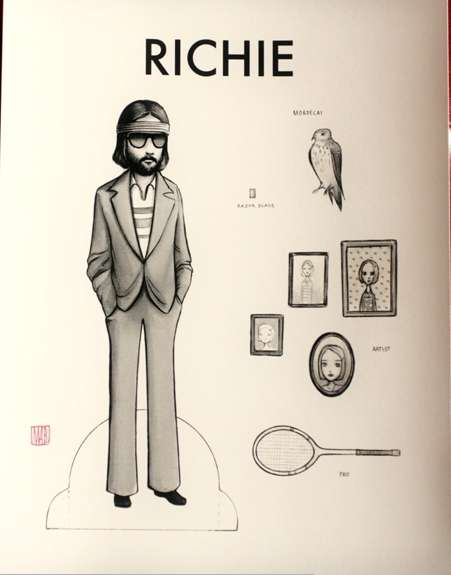 Campy Character Cut-Outs - The Mab Graves Royal Tenenbaums Dolls Celebrate the Cult Film