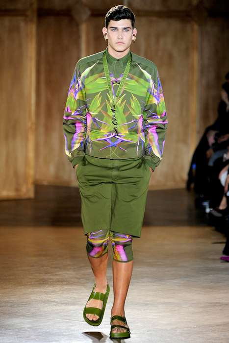 Wild Foliar Fashion - The Givenchy 2012 Spring/Summer Line Boasts Bold Green Ensembles