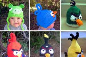 These Angry Birds Crochet Hats Keep Your Head Warm for the Winter