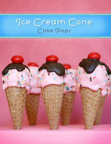 Ice Cream Cone Cake Pops