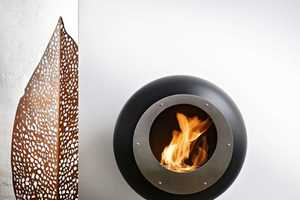 The Vellum Fireplace Heats up the Home in a Contemporary Style