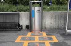 Hopscotch Trash Can Campaigns - Lucerne, Switzerland Gets Cleaned Up in a Playful Manner