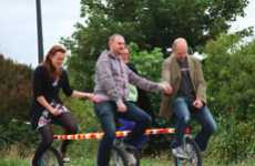 Four-Person Unicycles - The 4H Bike Encourages Biking in a Fun and Unique Way
