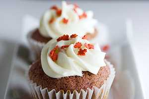 Bite Into Canada Day With a Maple Leaf Red Velvet Cupcake