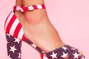 These Jeffrey Campbell American Flag Sandals are All Stars & Stripes