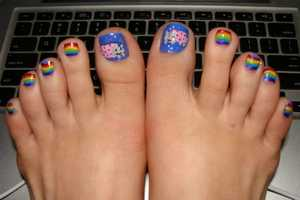 The Nyan Cat Pedicure is Vibrant & Purrfectly Painted