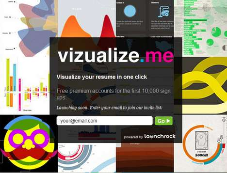 Infographic Resumes - Vizualize.Me Turns Your LinkedIn Profile Into a Colorful Personalized Graph