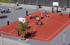 Bulging Basketball Courts