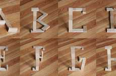 Optical Illusion Typography - Marc Bottler Uses Depth-of-Field to Create Fantastic Fonts
