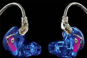 Ultimate Ears Custom Stage Earphones Stylize Death for Listening Pleasure