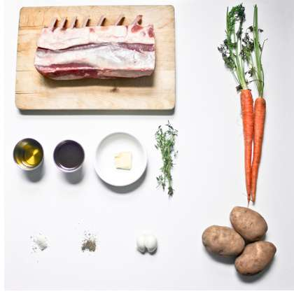 Deconstructed Dinner Photography