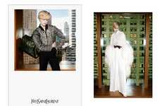 City Chic Campaigns - The Yves Saint Laurent Fall 2011 Ads Star Raquel Zimmermann