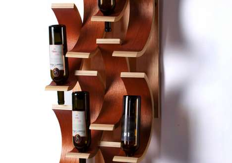 Falling Chips Wine Rack