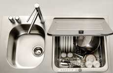 Incognito Dishwashers - This KitchenAid Briva Dishwasher is Embedded within the Sink