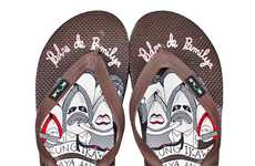 Soulful Summer Slippers - The Filipino Brand Sole Project's Teamba Collection Features Caricatures