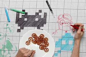 The Doodle Tablecloth Brings Art to the Dining Room