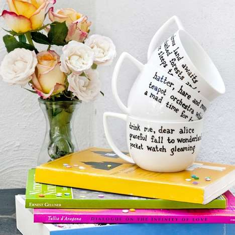 Handwritten Poem Mugs - The Alexis Siemons Haiku Teaware Collection Celebrates Tea