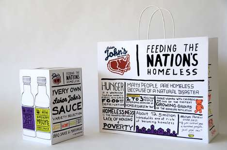 Freehand Condiment Branding - Senor John's BBQ Sauces Packaging Helps the Homeless