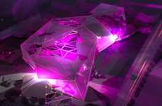 Multifaceted Magenta Structures - The Parramatta Art Center is a Massive Pink Diamond