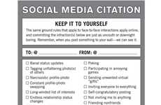Facebook Etiquette Tips - Social Media Citation Teaches Proper Social Networking