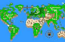 Gamer Planet Parodies - The 'Super Mario Earth' Image Transforms the Globe