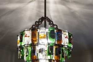 Express Your Love of Alcohol with These Beer Bottle Chandeliers