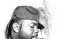 Grayscale Hip-Hop Portraiture