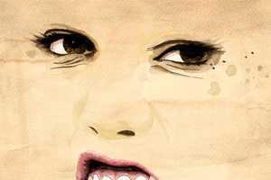 Oscar Delmar Creates Two-Dimensional Portrait Paintings
