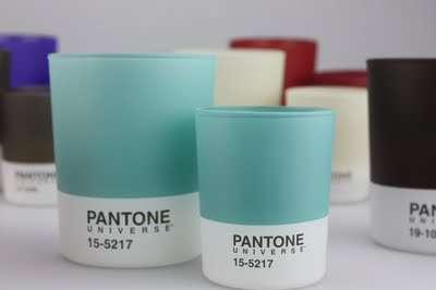 Paint Chip Luminaries - Pantone Universe Candles Infuse Favorite Shades with Light