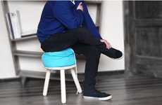 Laundry Bag Barstools - Nexus Stool by Elementodiseno Cushions Your Bottom with Clothes