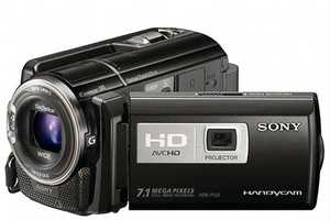 The Sony Handycam Boasts High-Performance Features Including a Projector
