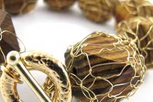 Sari Glassman's 'Pupa' Jewelry Uses Metallic Coverings